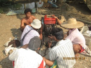 Villagers take part in vocational training offered by Asian Children's Mission