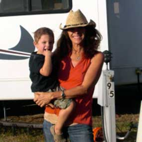 Kathy DiPietro and grandson.