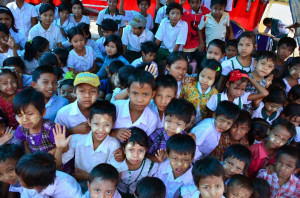 School Children in Putaik Gyi