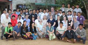 American and Myanmar FAME Team - January 2014 Assisting are ACM leaders Josiah (front row, 2nd from left in blue shirt) and Joel (third from right in white shirt with green stripe)